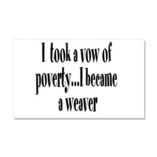 Vow of Poverty Car Magnet 20 x 12