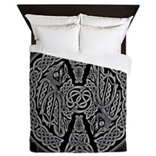 Celtic Dragons Queen Duvet Cover