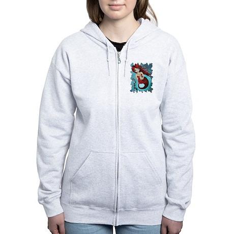 Ruby Mermaid Women's Zip Hoodie