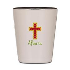 Alberta Bubble Cross Shot Glass