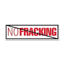 No Fracking Car Magnet 10 x 3