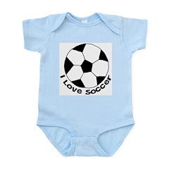 I Love Soccer Infant Bodysuit