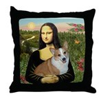 Mona - Corgi (Pembr-L) Throw Pillow