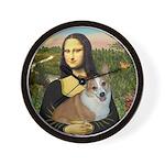 Mona - Corgi (Pembr-L) Wall Clock