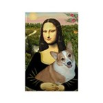 Mona - Corgi (Pembr-L) Rectangle Magnet (10 pack)