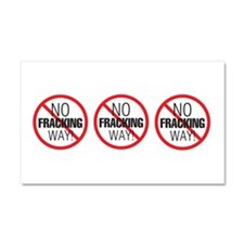 Cute Anti fracking Car Magnet 20 x 12