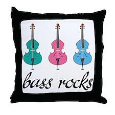 Bass Rocks Throw Pillow
