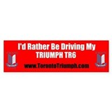 Toronto Triumph Club TR6 Bumper Sticker