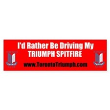 Toronto Triumph Club Spitfire Bumper Bumper Stickers