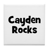 Cayden Rocks Tile Coaster