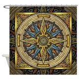 Celtic Compass Shower Curtain