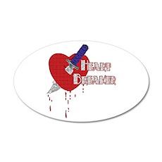 Heart Breaker 35x21 Oval Wall Decal