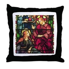 Mary Magdalene and Jesus Throw Pillow