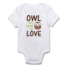 Owl You Need Is Love Infant Bodysuit