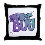 Glitterbug Throw Pillow