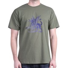 Fiery Purple Dragon T-Shirt