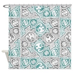 Celtic Puzzle Square Shower Curtain