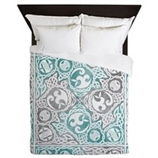 Celtic Puzzle Square Queen Duvet Cover