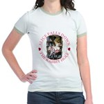 Alice Falls Down the Rabbit Hole Jr. Ringer T-Shir