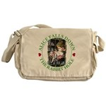 Alice Falls Down the Rabbit Hole Messenger Bag