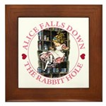 Alice Falls Down the Rabbit Hole Framed Tile
