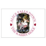 Alice Falls Down the Rabbit Hole Large Poster