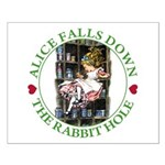Alice Falls Down the Rabbit Hole Small Poster