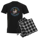 Alice Falls Down the Rabbit Hole Men's Dark Pajama