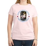 Alice Falls Down the Rabbit Hole Women's Light T-S