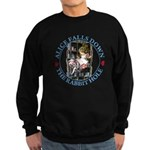 Alice Falls Down the Rabbit Hole Sweatshirt (dark)