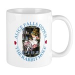 Alice Falls Down the Rabbit Hole Mug