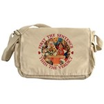 First The Sentence, Then the Verdict Messenger Bag