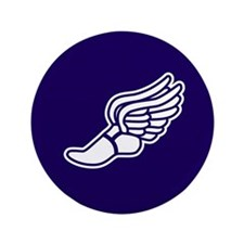"Purple Winged Track Foot 3.5"" Button (100 pack)"