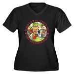 Who Let Blondie In? Women's Plus Size V-Neck Dark