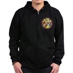 Who Let Blondie In? Zip Hoodie (dark)