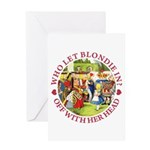 Who Let Blondie In? Greeting Card