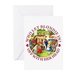 Who Let Blondie In? Greeting Cards (Pk of 20)