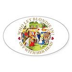 Who Let Blondie In? Sticker (Oval 50 pk)