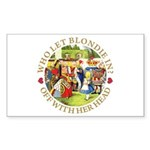 Who Let Blondie In? Sticker (Rectangle 50 pk)