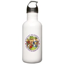 Who Let Blondie In? Sports Water Bottle