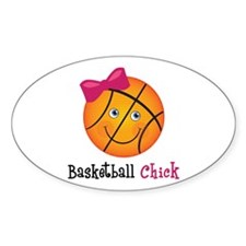 Pink Basketball Chick Decal