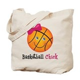 Pink Basketball Chick Tote Bag