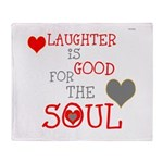 OYOOS Laughter Good for the Soul Throw Blanket