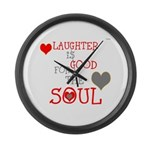 OYOOS Laughter Good for the Soul Large Wall Clock