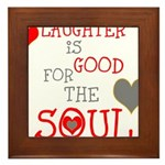 OYOOS Laughter Good for the Soul Framed Tile
