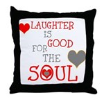 OYOOS Laughter Good for the Soul Throw Pillow