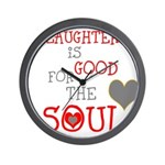 OYOOS Laughter Good for the Soul Wall Clock
