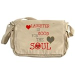 OYOOS Laughter Good for the Soul Messenger Bag