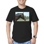 Show Horse Men's Fitted T-Shirt (dark)