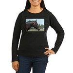 Show Horse Women's Long Sleeve Dark T-Shirt